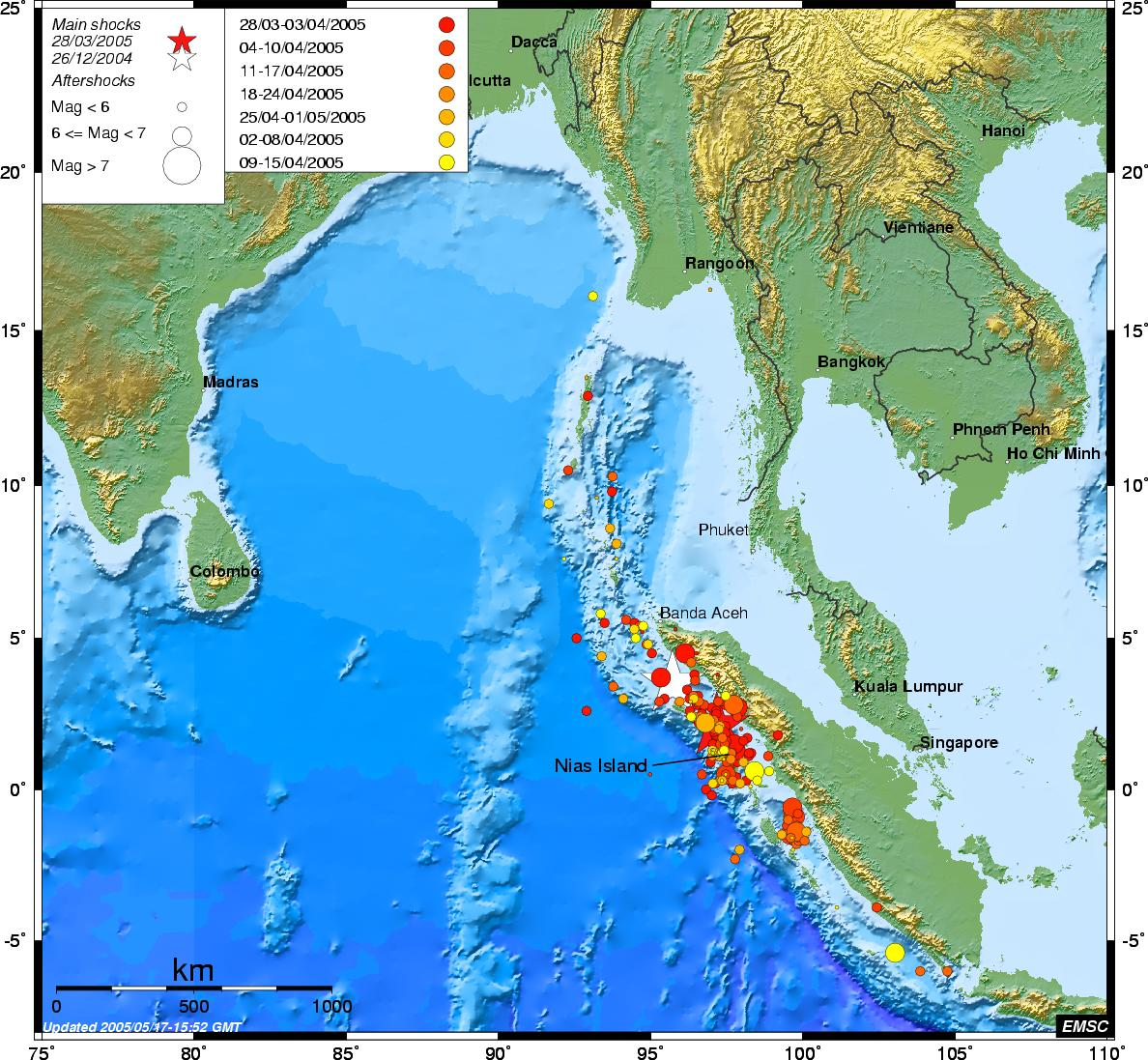 Sumatra Aftershocks distributions