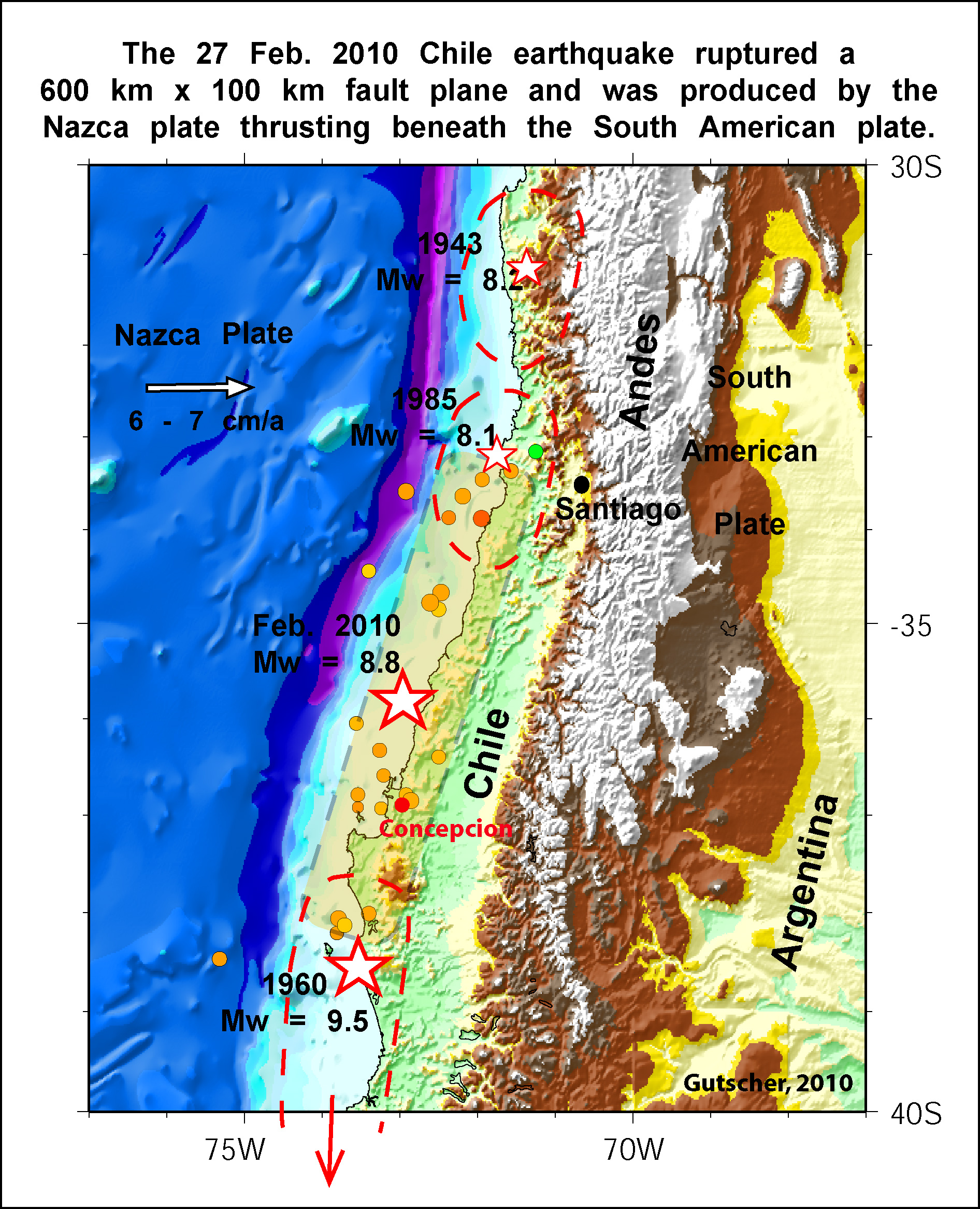 Tectonic environment of the Chile February 27th earthquake