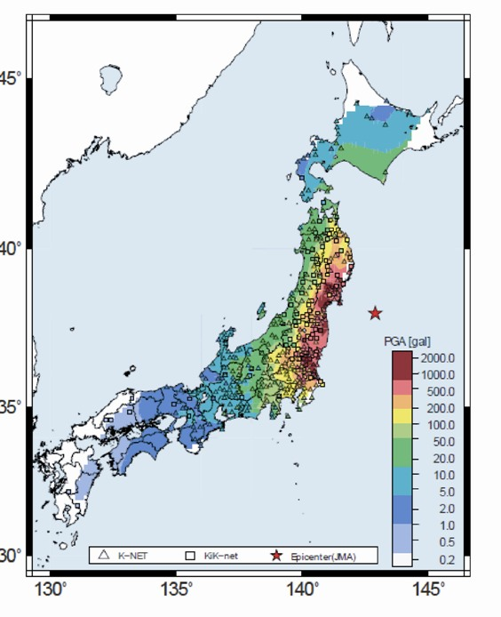 Mw Off The Pacific Coast Of Tohoku Japan Earthquake On March - Japan map earthquake
