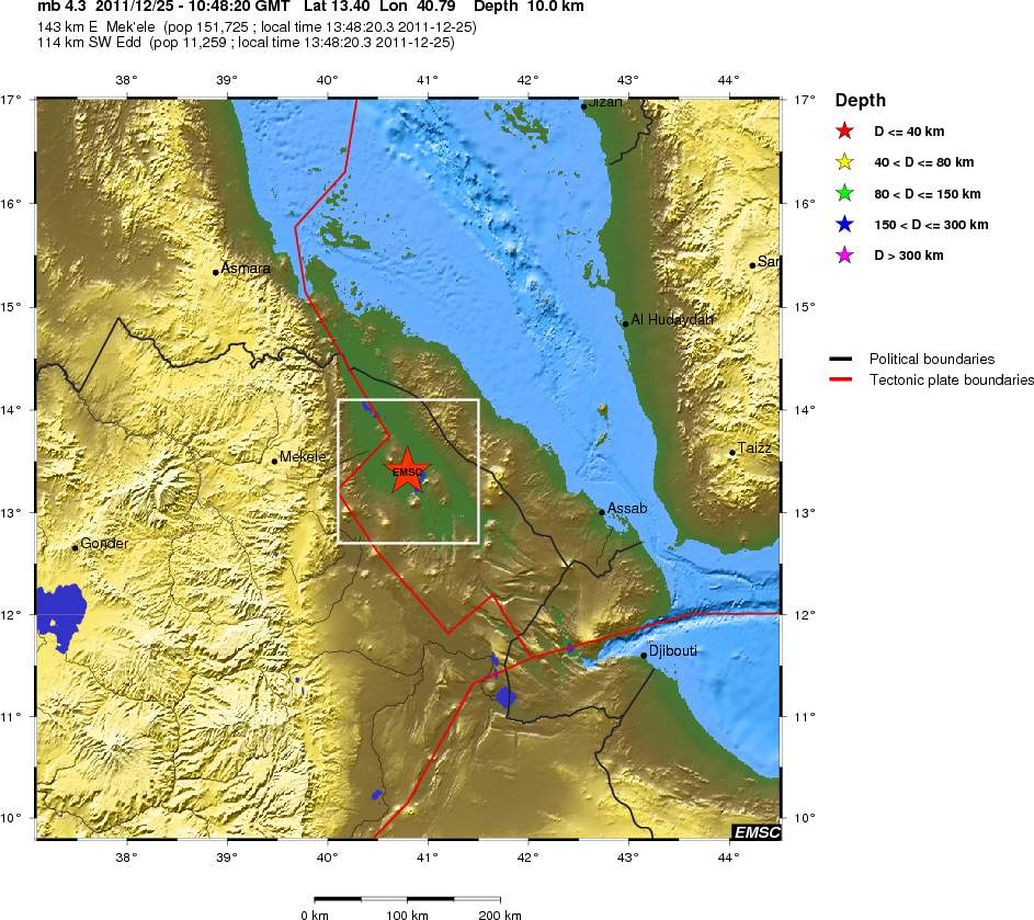 BREAKING Earthquake Activity In Mekele And Its Environs