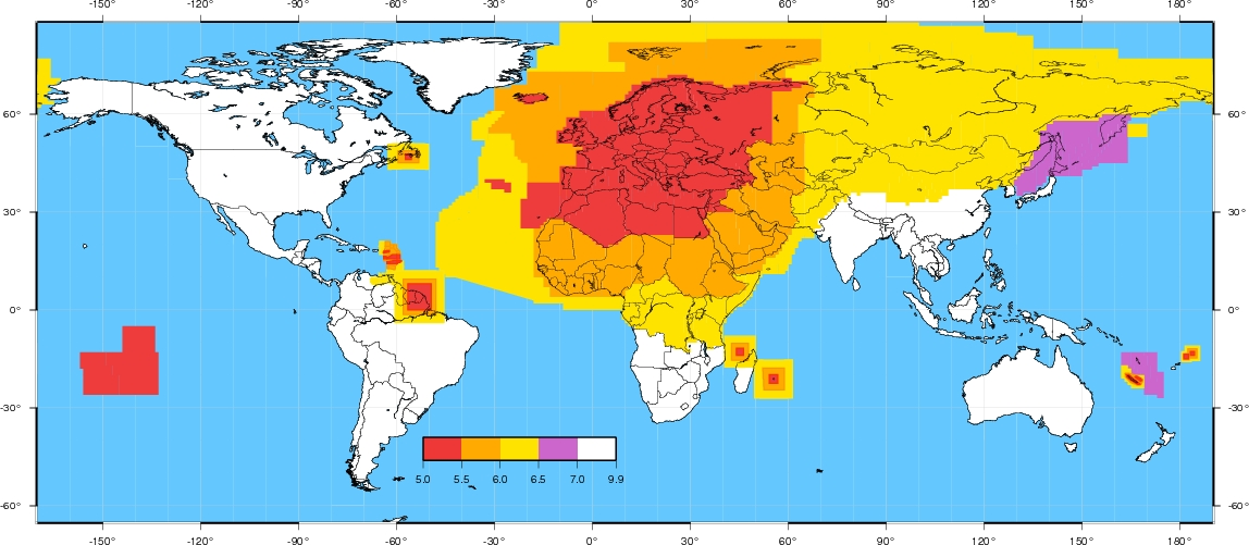 Real Time Information And Earthquake Notification Services - Us seismic activity map